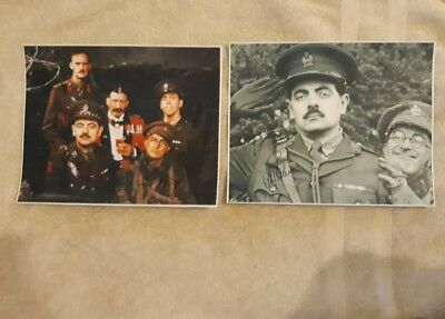 Blackadder Cast Signed Pictures. Set Of 2. Classic. Comedy.