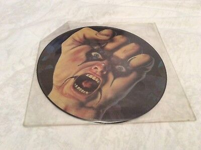 """Alice Cooper """"Raise Your Fist And Yell"""" original 1987 picture disc LP"""