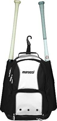 (Black/White) - Marucci Travel Ball Bat Backpack. Free Shipping