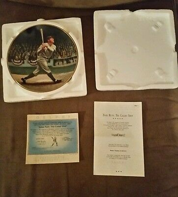 """BRADFORD EXCHANGE Babe Ruth """"The Called Shot""""  Numbered YANKEES Mint condition!!"""