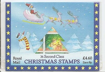 Great Britain SC # 1196a Pane Of 36, Christmas 1987 . Mint NH, Sealed.