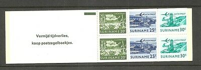 Suriname SC # Air Mail Booklet  . Complete Booklet . MNH