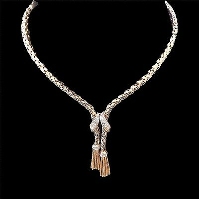 Collier en or 18 Cts et platine vers 1950 avec diamants  . 44.20 Grs.
