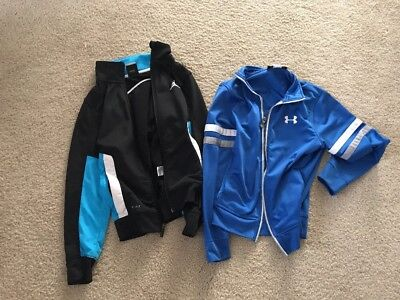 Lot Of 2 Athletic Jackets, Air Jordan And Under Armour - Sz 8. Ysm