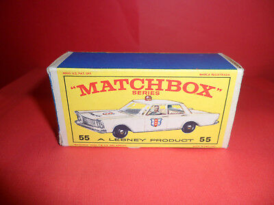 Matchbox 1-75 Series No:55 - Police Car Original Empty E Type Box,1960's.