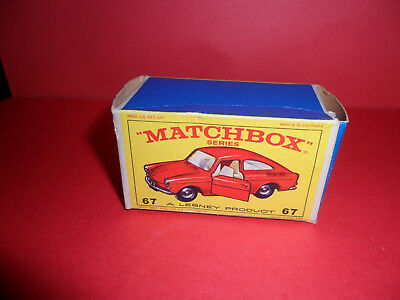 Matchbox 1-75 Series No:67 V.W.1600 TL Original Empty E Type Box,1960's.