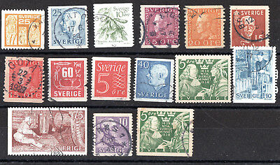 Sweden X 15 Used Stamp Collection.