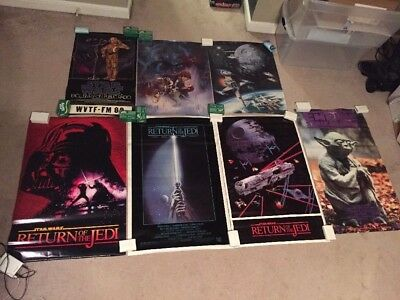 Star Wars Movie Poster collection  Return of the Jedi  Empire (lot of 7) NEW
