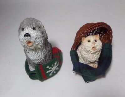 """Bryers Choice Carolers Shaggy Dog And Cat """"free Shipping"""""""