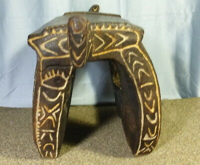 Old Papua New Guinea Tribal Stool Table