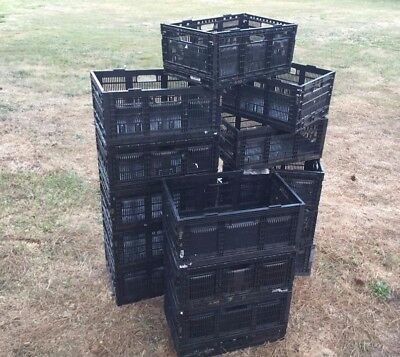 IFCO COMMERCIAL Collapsible Folding NESTING Stack Storage Crates - Very Durable