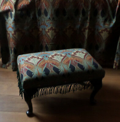 Vintage Sherbourne 3 Position Footstool,in Liberty Ianthe Linen Fabric