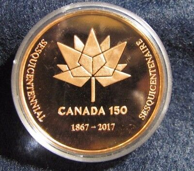 Canada 150 th medal COPPER --Three Sisters Lights.   Item #5219