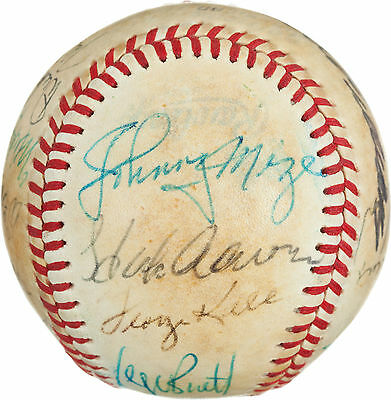 1980 Batting Champs Multi-Signed Autographed Baseball JSA LOA - Dimaggio ++