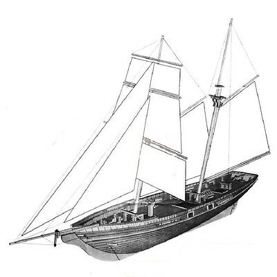 Scale 1/70 1830 US New Port sail boat wooden model kits