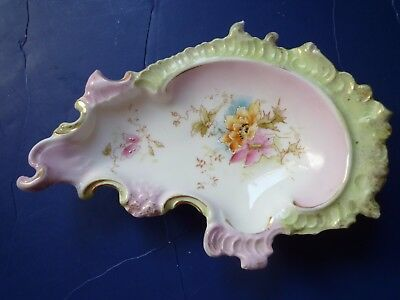 """Antique ceramic ring dish dresser jewelry RS Prussia """"possibly unmarked"""" Germany"""