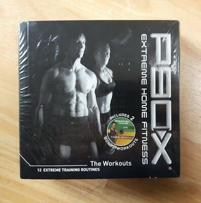 p90x dvd set 12 disks -NEW sealed fitness extreme home workout training horton