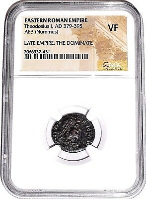 Eastern Roman Empire Theodosius I The Dominate Coin,NGC Certified  VF,Rare With
