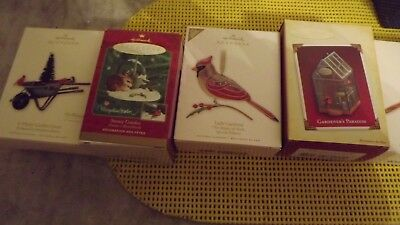 4 Hallmark Keepsake Ornament Lot Collection  JUST IN TIME FOR CHRISTMAS
