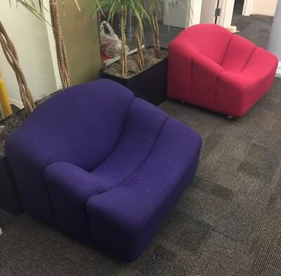 two Modern Space Age Pierre Paulin Artifort ABCD Chairs