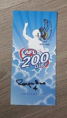 Richmond Tigers - Royce Hart Hand Signed 2005 Afl 200 Club Personal Invitation