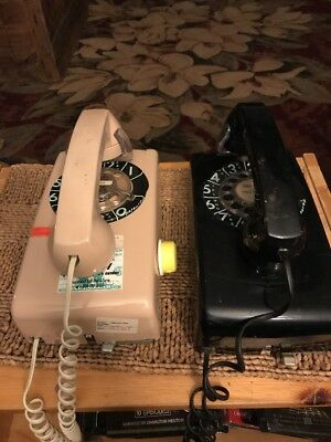 2 Bell System Western Electric 228 wall phone rotary dial vintage RARE. Look 👀