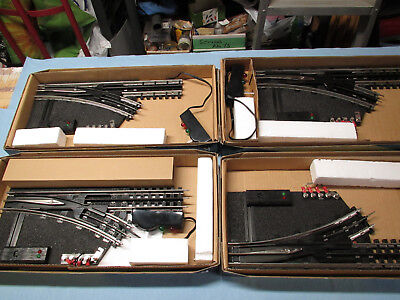 K-Line 0-42 Turnout (Switch) Lot -- 3 K-0376 Remote Right Hand And 1 K-0375 Left