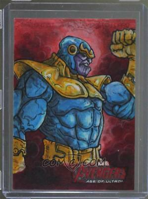 2015 Upper deck  Marvel AVENGER age of ultron sketch card 1/1 THANOS, Anderson