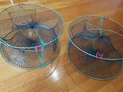 2xEELCrayfish Lobster Shrimp Prawn Eel Live Trap Net Bait Fishing Pot Cage $25