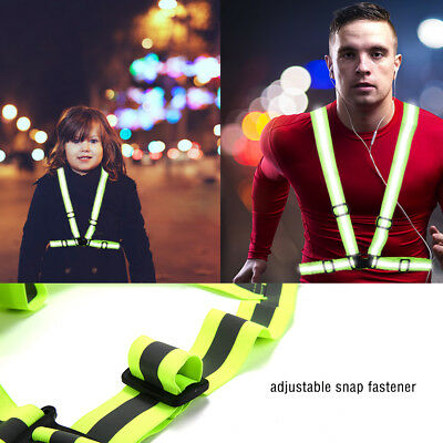 High Adjustable Safety Security Visibility Reflective Vest Night Running Jacket