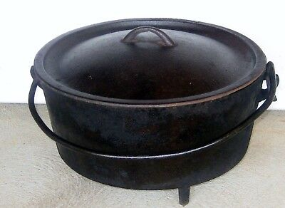 Metters ' 14 ' Inch Cast Iron Tri Footed Camp Oven & Lid *12 Kg*