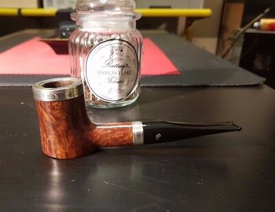 Pfeife Peterson Limited Edition,Stand Up Poker, 9 mm, Silberringe , beraucht