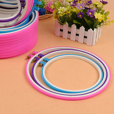 Colorful Embroidery Card Slot Round Hoop Ring Adjustable Craft Sewing Kit 5 Inch