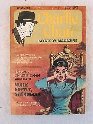 Vintage CHARLIE CHAN Mystery Magazine November 1973 FIRST ISSUE! Vol. 1, No. 1