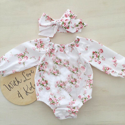 AU Stock Newborn Kids Romper Infant Girls Bodysuit Baby Outfits Jumpsuit Clothes