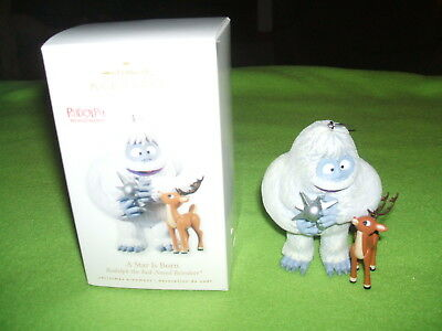 RUDOLPH the Red-Nosed Reindeer & BUMBLE A Star is Born HALLMARK ORNAMENT 2010