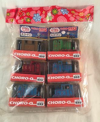 Vintage TAKARA CHORO Q Thomas & Friends Pullback SET OF 6 New Package US SELLER