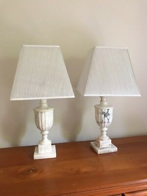 Antique White Marble Lamps
