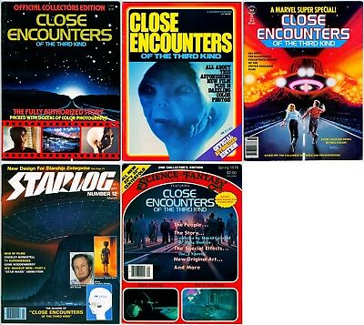 Lot Of 5 original CLOSE ENCOUNTERS OF THE 3RD KIND Publications - 1978