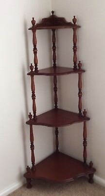 Antique Style Wooden Corner What-Not / Corner Display Unit/ Australian Made
