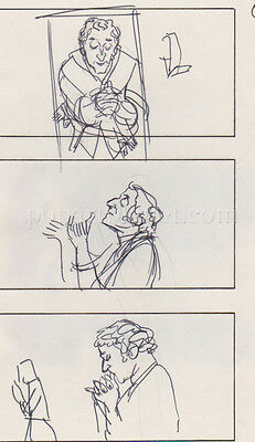 In God We Trust '80 Movie Storyboard Art Aldana Marty Feldman 11 Pages Ritz Walk