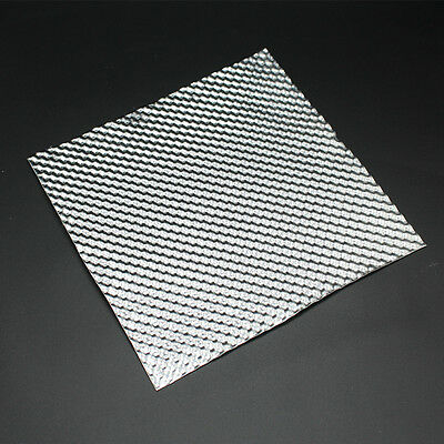 Embossed Aluminum Heat Shield 500mm x 500mm Turbo Manifold Exhaust Electrical
