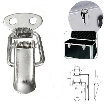 1X Stainless Steel Spring Load Hasp Cabinet Box Lock Catch Buckle Toggle Tool