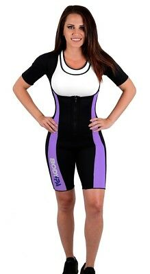 (XXX-Large, PURPLE FLEX) - Body SPA Light Body Sauna Suit Neoprene Full Body