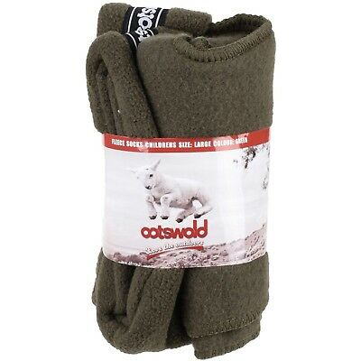 (Medium, Green) - Cotswold Boys Childrens Super Soft Fleece Wellington Socks