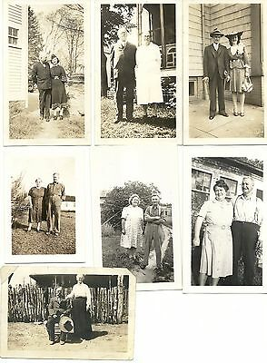 Vintage 1930's-40's Photograph Lot of 11 Happy Couples