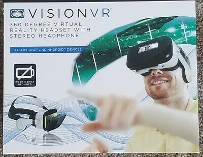 Amerisound Vision VR Virtual Reality Headset with Stereo Headphone NEW IN BOX