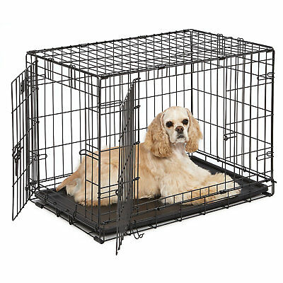 "Midwest iCrate Double Door Folding Dog Crate, 30"" L X 19"" W X 21"" H"