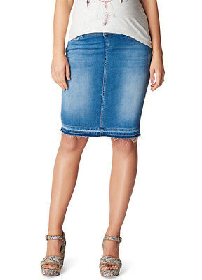 NEW - Noppies - Joy Distressed Denim Skirt in Light Wash - Maternity Skirt