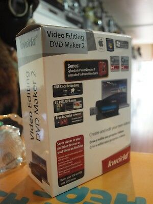 Kworld Video Editing Dvd Maker 2 In Box / New : Never Used - Aussie Stock !